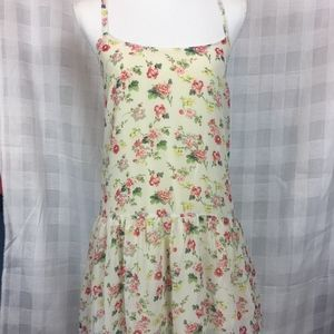 NWT Anthropologie Hem & Thread Ivory Floral Dress